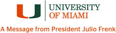 A Message from President Julio Frenk