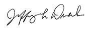 Jeffrey L. Duerk, Ph.D. signature