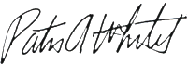 Patricia A. Whitely signature