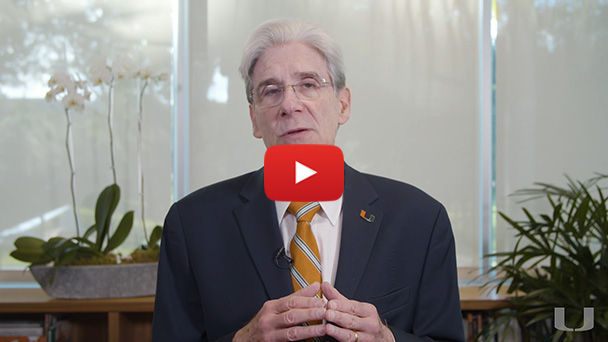 A message to the University of Miami community from President Julio Frenk on the response to the COVID-19 outbreak.