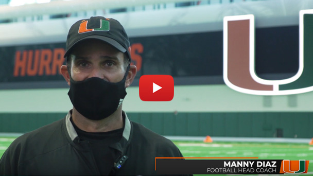 A message from Manny Diaz to all Hurricanes